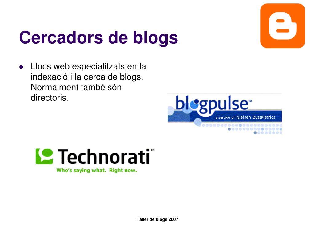 Cercadors de blogs