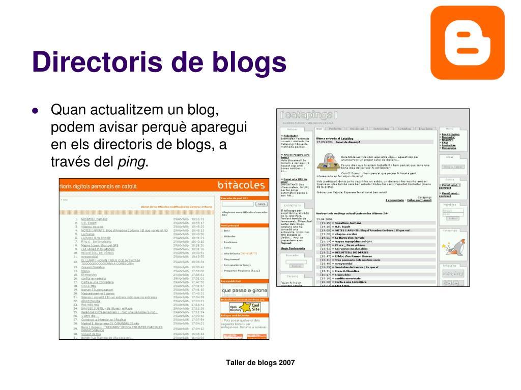 Directoris de blogs