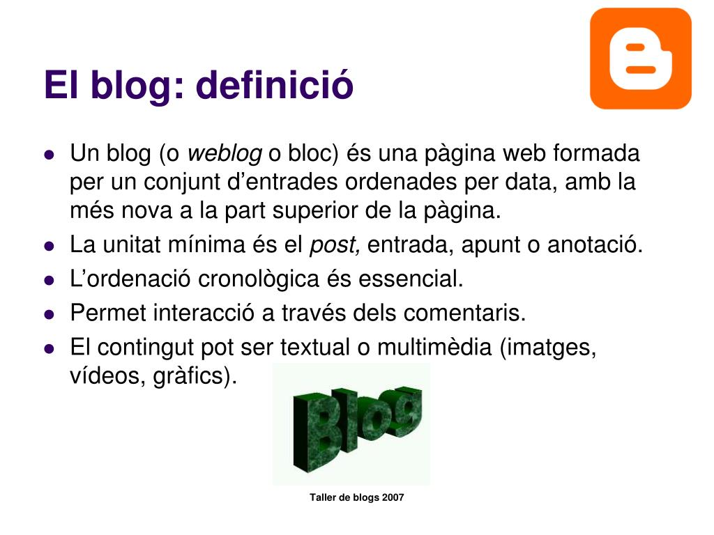 El blog: definició