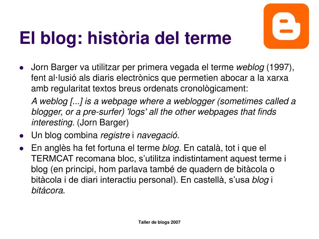 El blog: història del terme