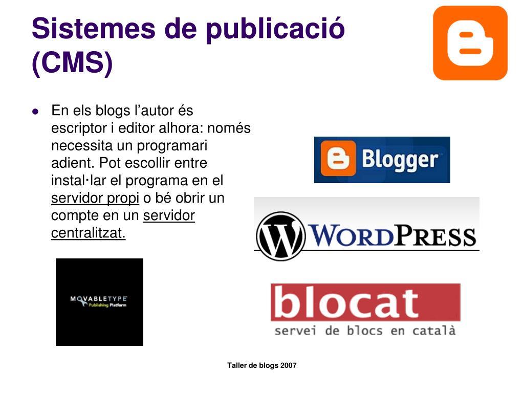 Sistemes de publicació (CMS)