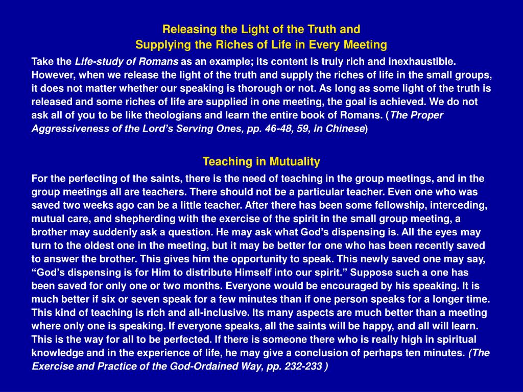 Releasing the Light of the Truth and