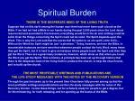 spiritual burden
