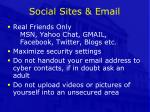 social sites email