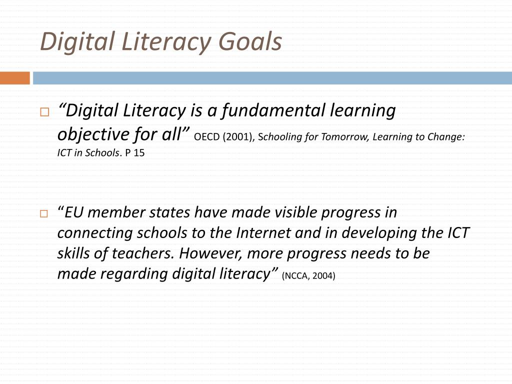 Digital Literacy Goals