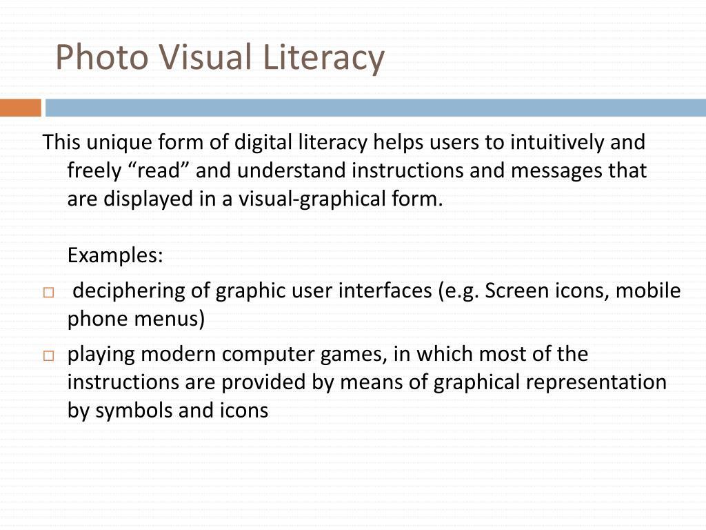 Photo Visual Literacy