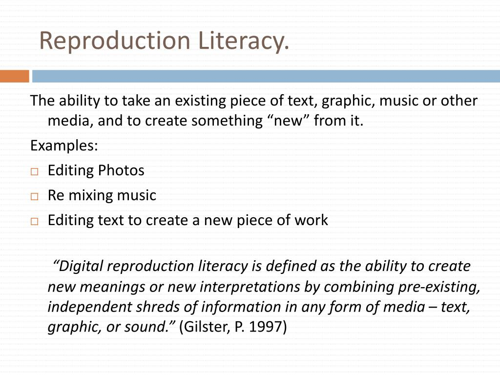 Reproduction Literacy.