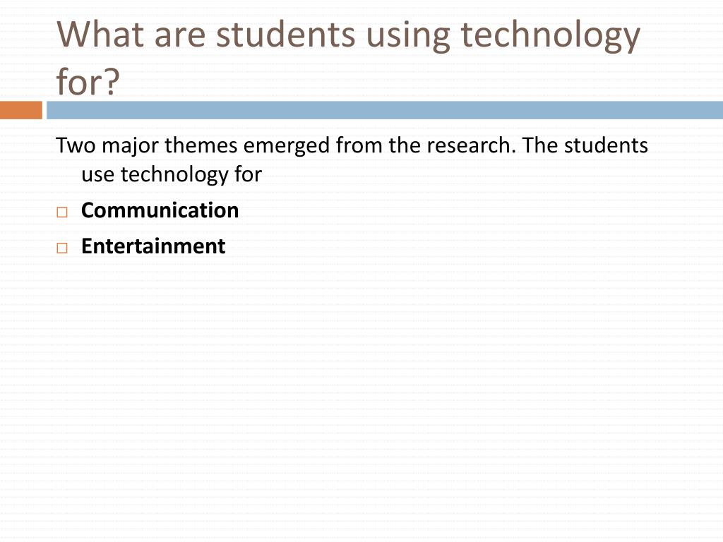 What are students using technology for?