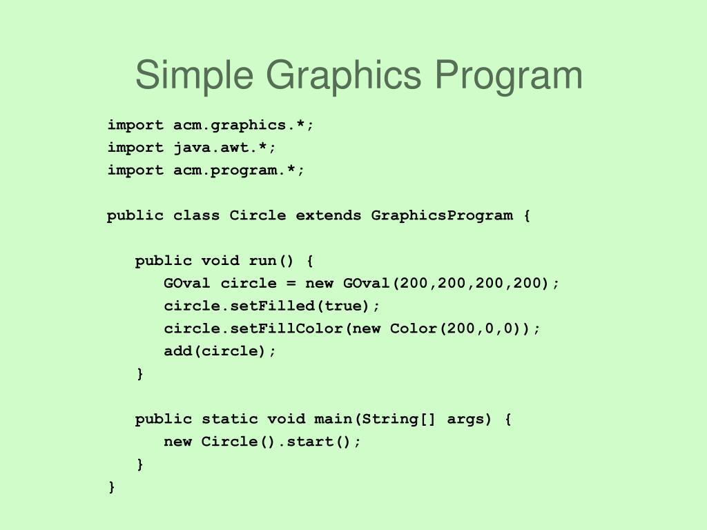 Simple Graphics Program