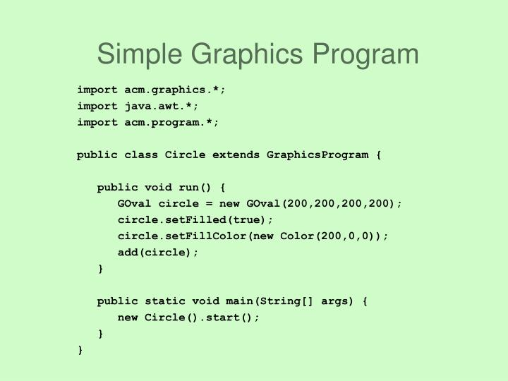 Simple graphics program