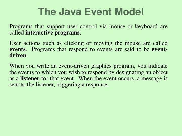 The Java Event Model