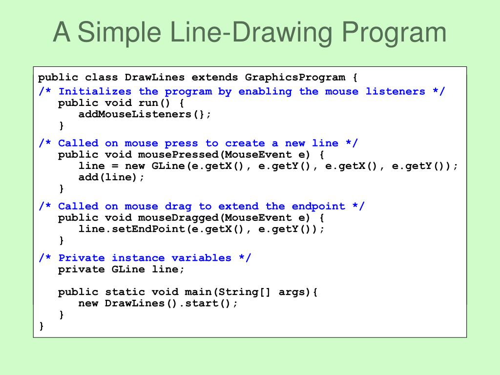 A Simple Line-Drawing Program