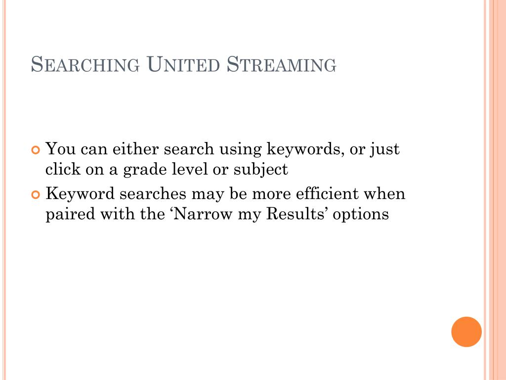 Searching United Streaming