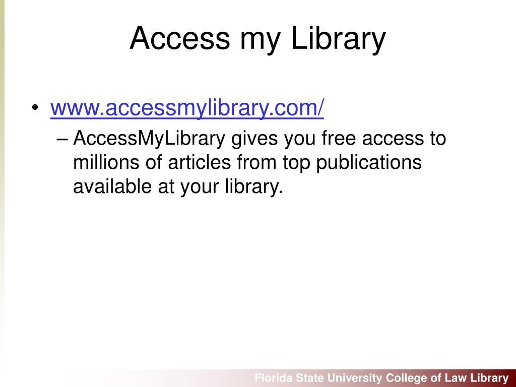 www.accessmylibrary.com/
