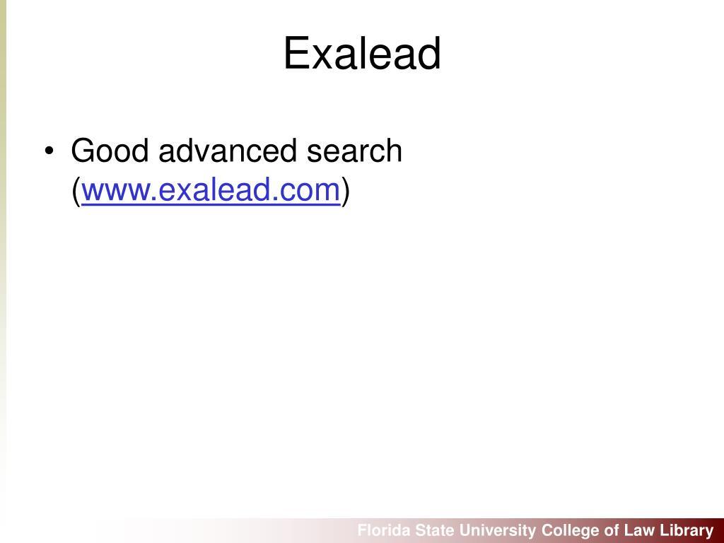 Good advanced search (