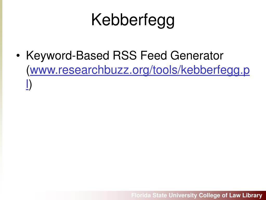 Keyword-Based RSS Feed Generator (