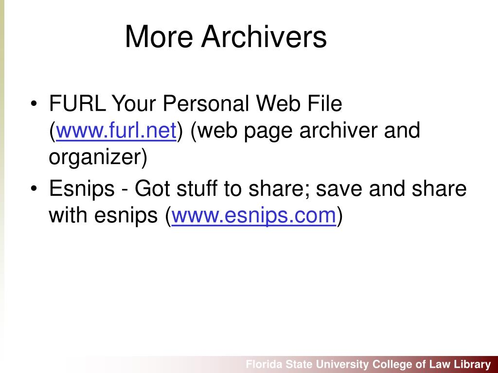 FURL Your Personal Web File (