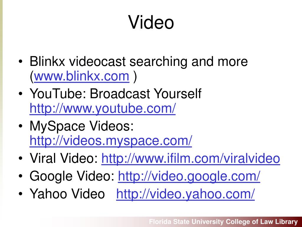 Blinkx videocast searching and more (