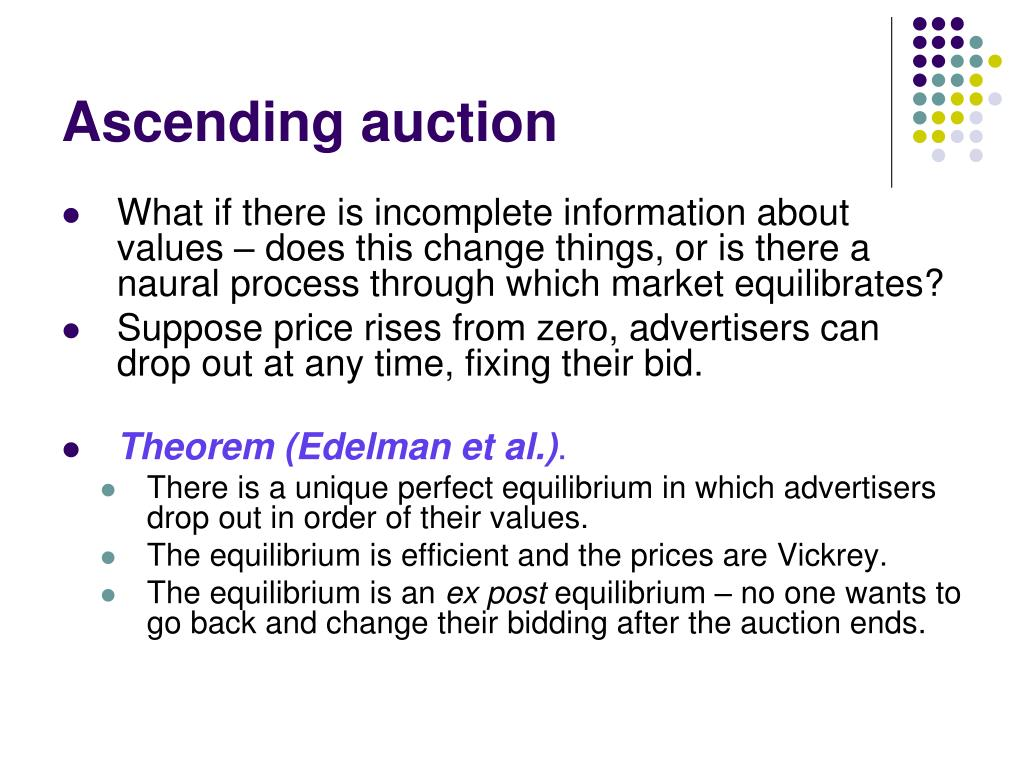 Ascending auction