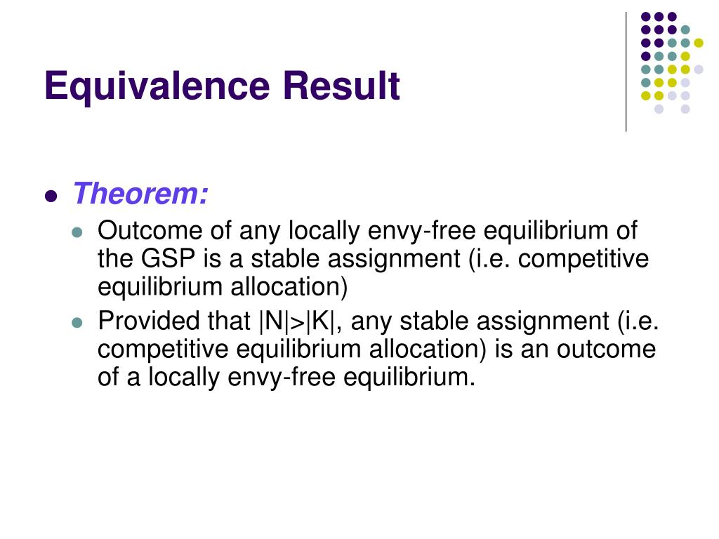 Equivalence Result