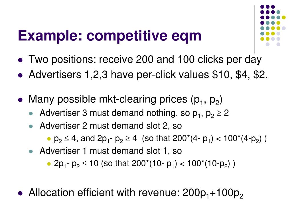 Example: competitive eqm