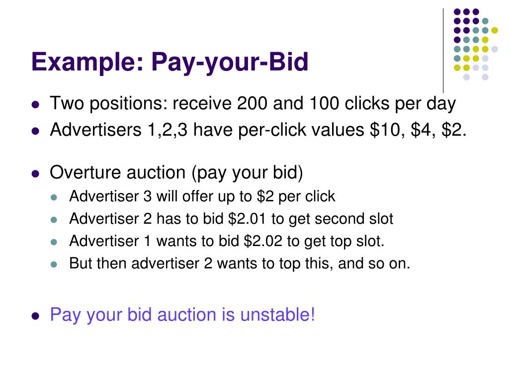 Example: Pay-your-Bid