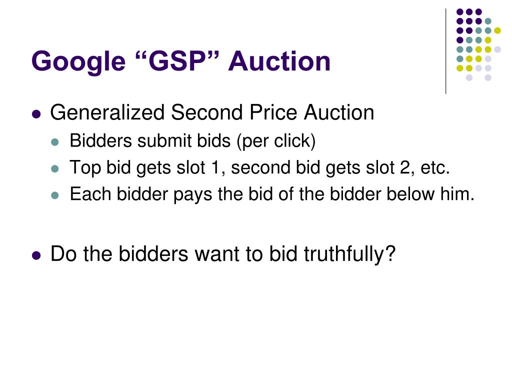 "Google ""GSP"" Auction"