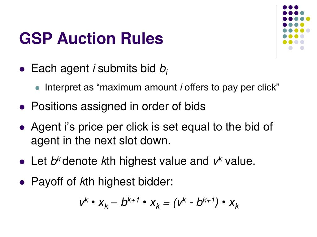 GSP Auction Rules