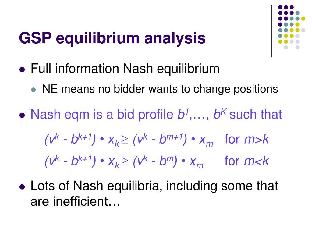 GSP equilibrium analysis