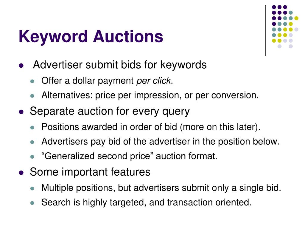 Keyword Auctions
