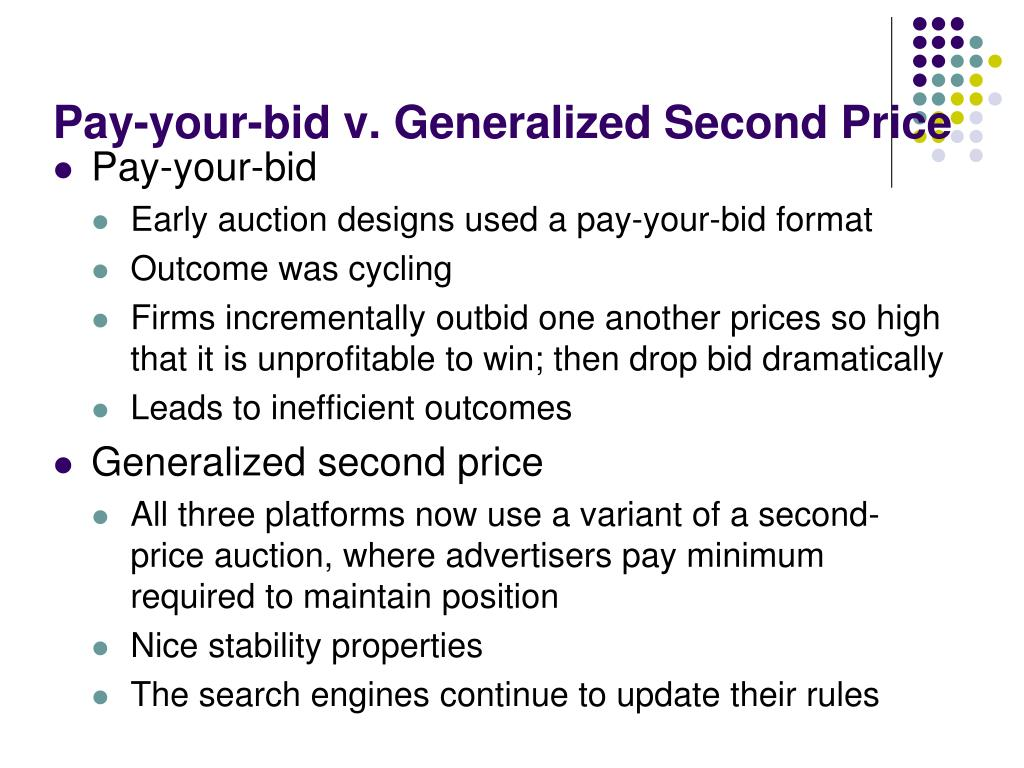Pay-your-bid v. Generalized Second Price