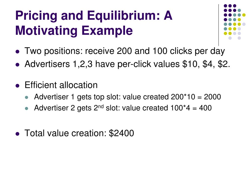 Pricing and Equilibrium: A Motivating Example