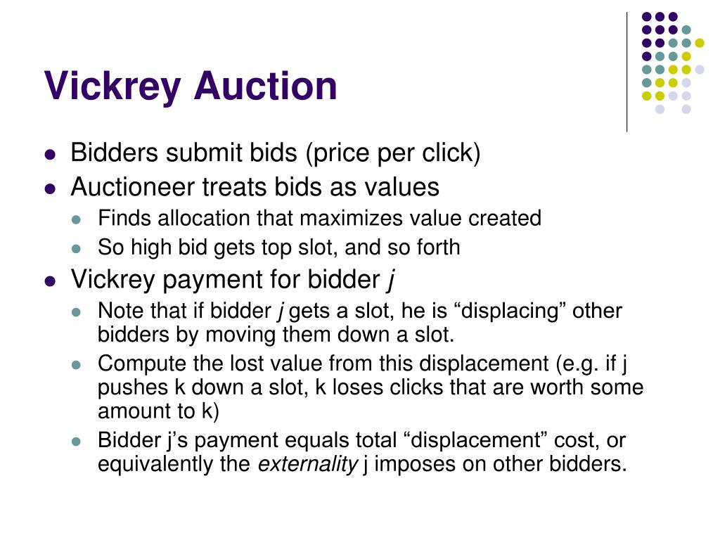 Vickrey Auction