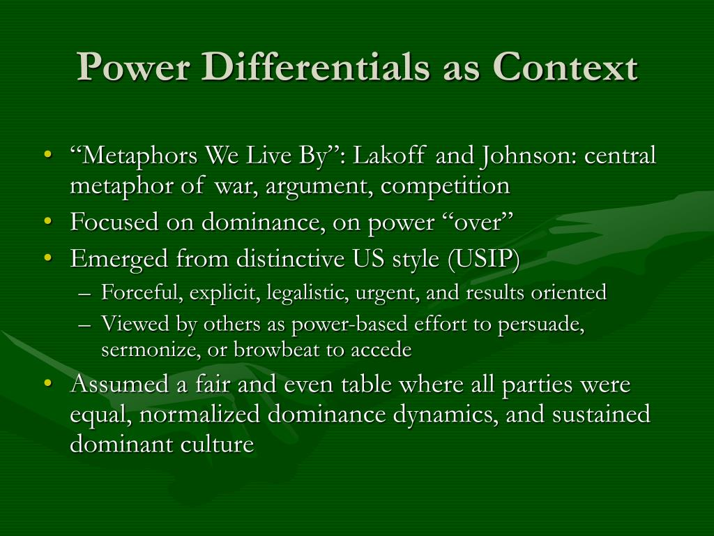 Power Differentials as Context