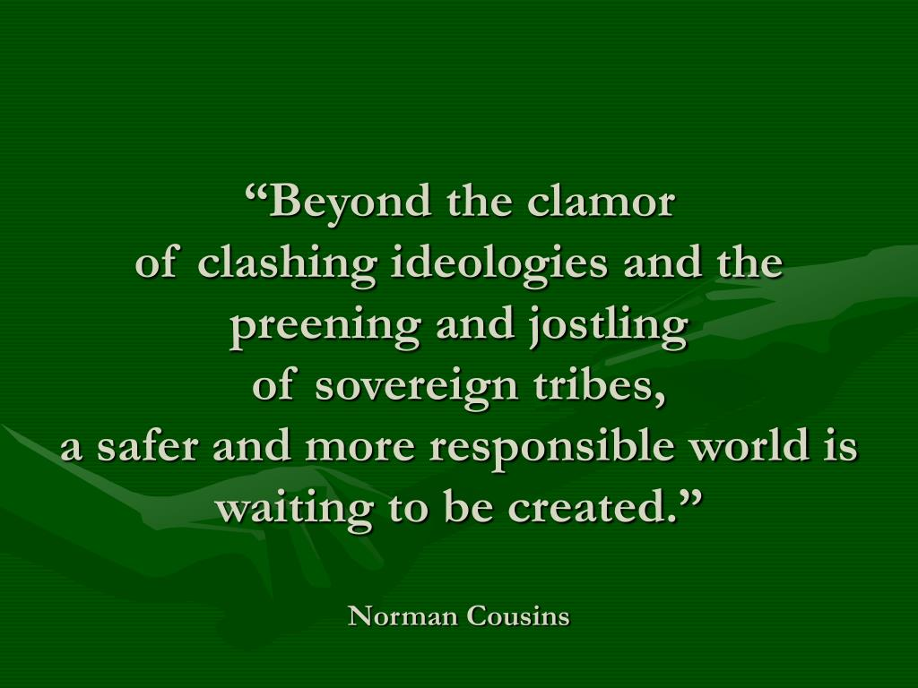 """Beyond the clamor"