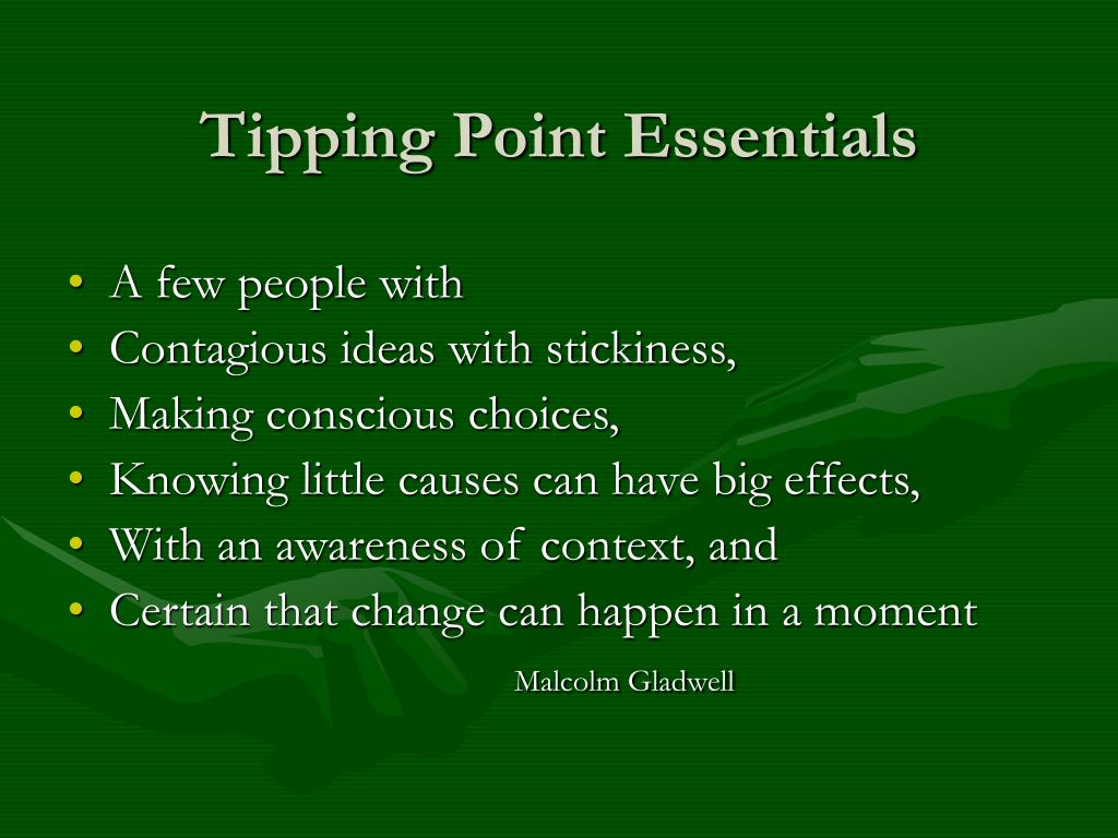 Tipping Point Essentials