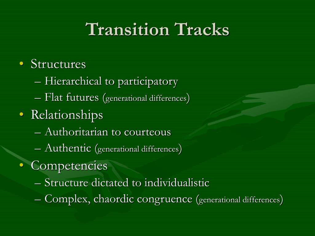Transition Tracks