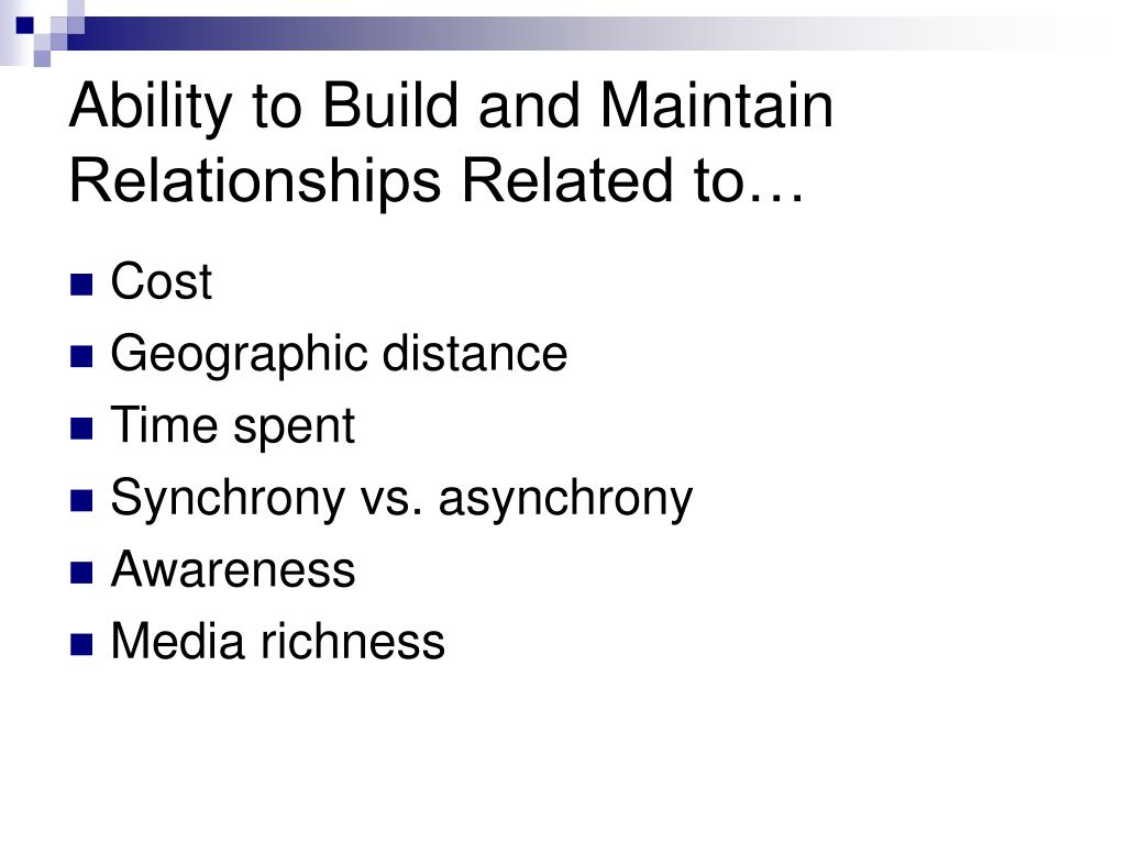 Ability to Build and Maintain Relationships Related to…
