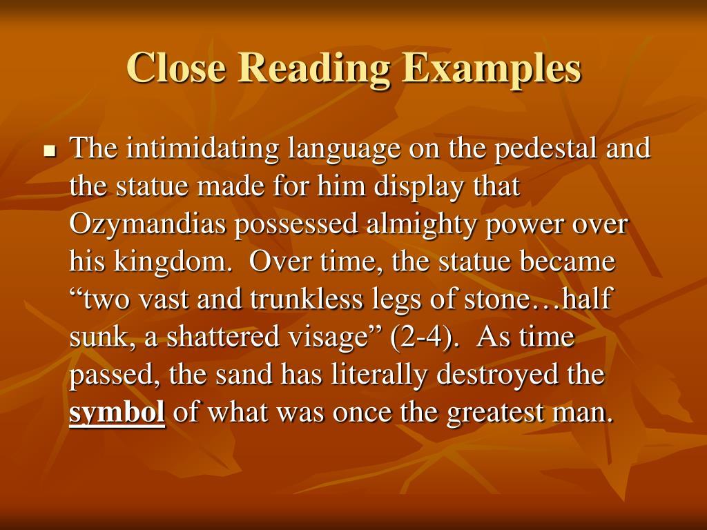 Close reading analysis essay example
