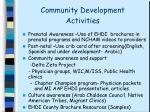 community development activities