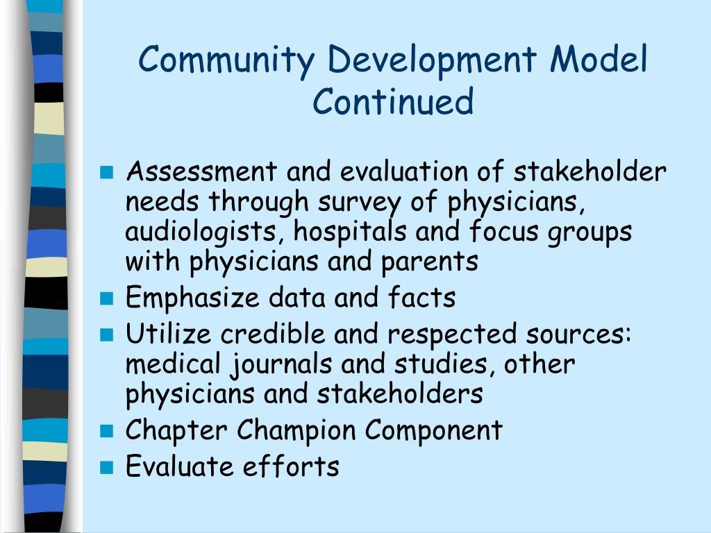 Community Development Model Continued