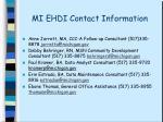 mi ehdi contact information32