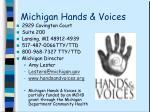 michigan hands voices