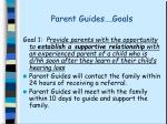 parent guides goals