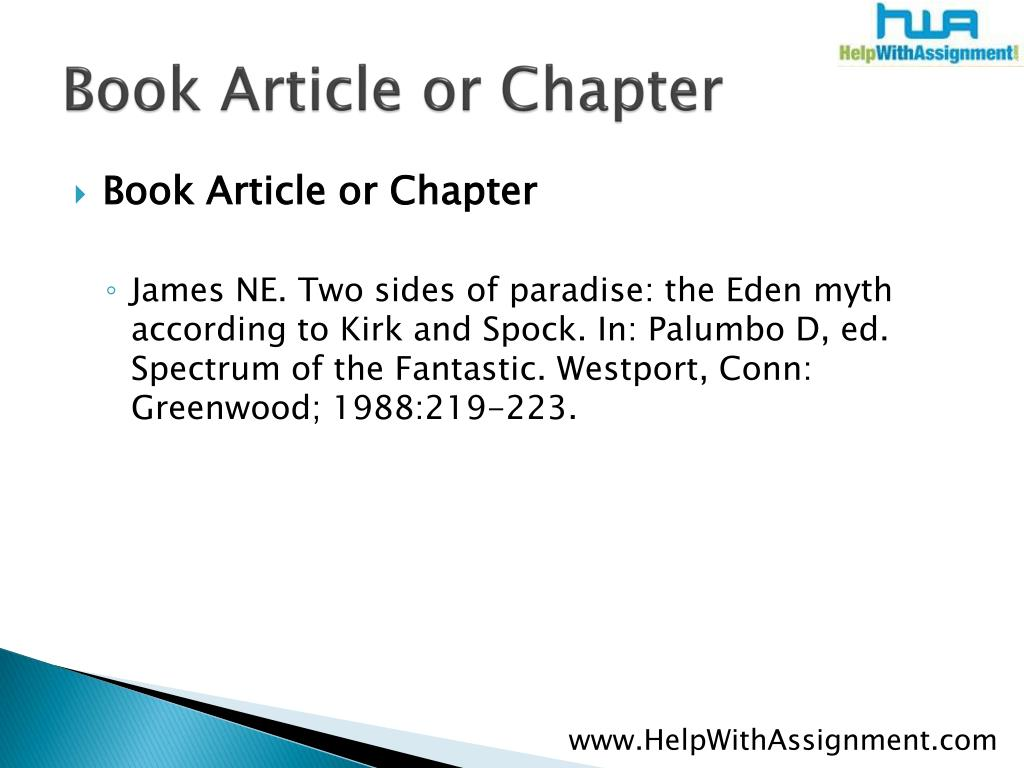 Book Article or Chapter