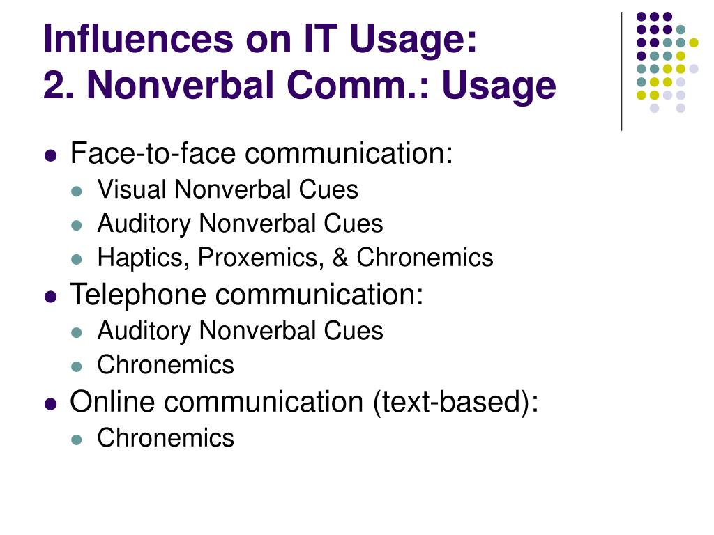 Influences on IT Usage: