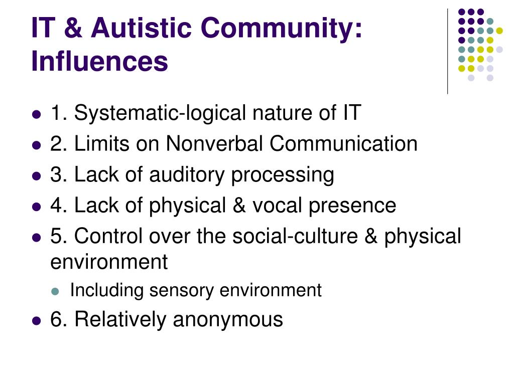 IT & Autistic Community: