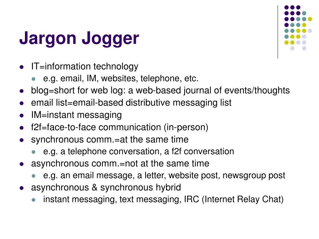 Jargon Jogger
