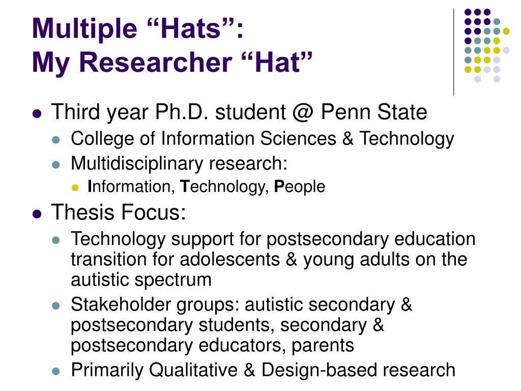 "Multiple ""Hats"":"