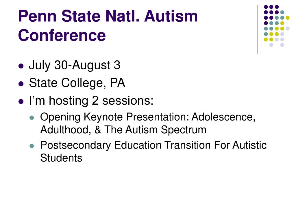 Penn State Natl. Autism Conference